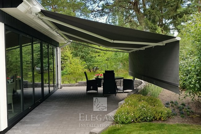 Patio Awnings With Drop Down Valance Awning Front Screens