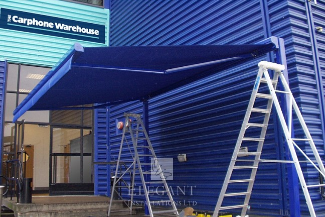 An Elegant Awning on our bespoke steel frame at Carphone Warehouse HQ London