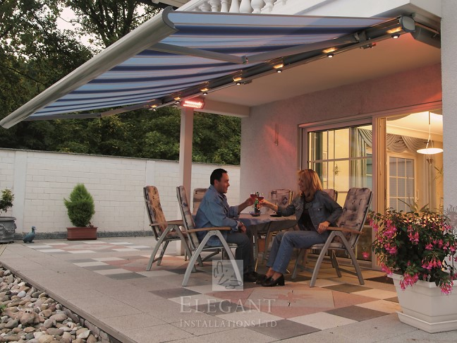 Awnings with lights patio awning lights by elegant uk enjoying a glass of wine a barbecue or even full alfresco dining in covered and illuminated comfort with our awnings with lights you can aloadofball Choice Image