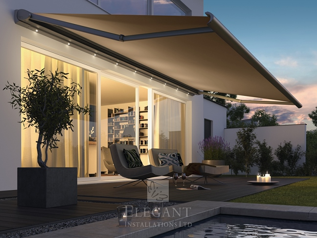 Awnings With Lights Patio Awning Lights By Elegant Uk