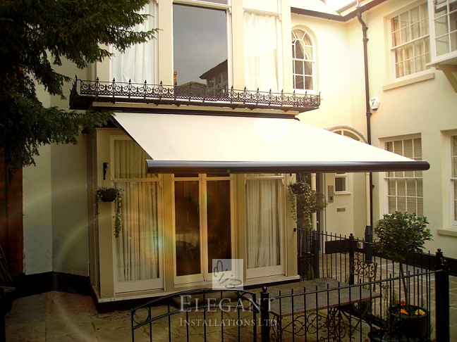 Awning fitted for an architectural feature home