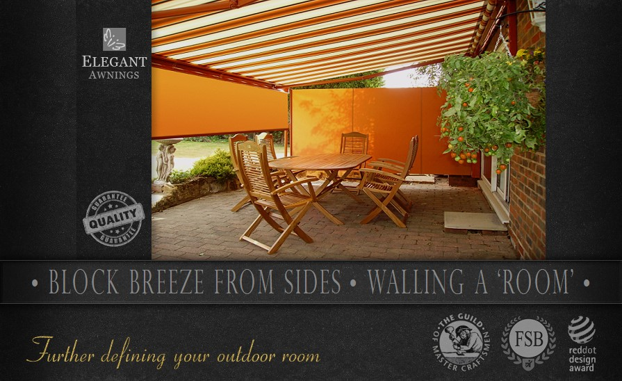Awnings with Sides - Patio Awning Side Screens | by Elegant